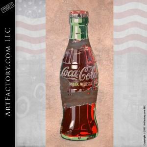 vintage Coke bottle sign