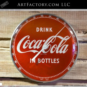 Vintage Coca-Cola Round Thermometer Sign