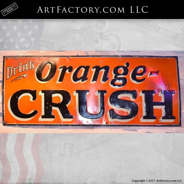 vintage drink orange crush sign