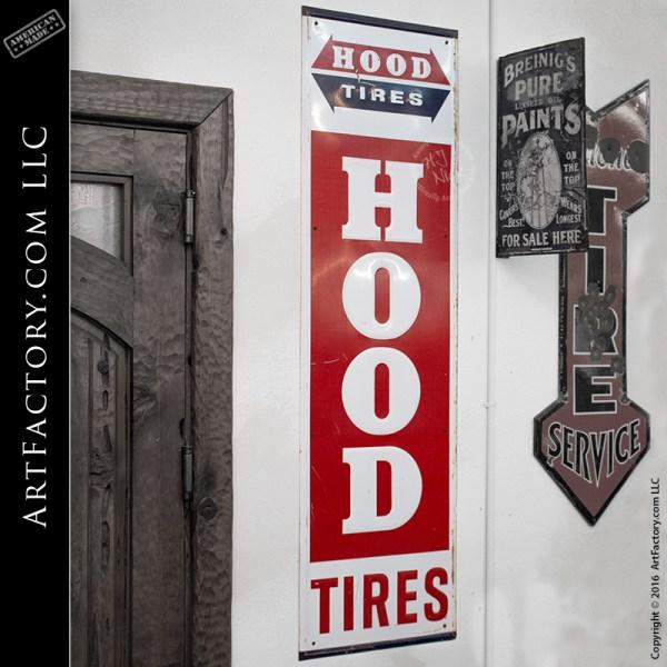 vintage Hood Tires sign