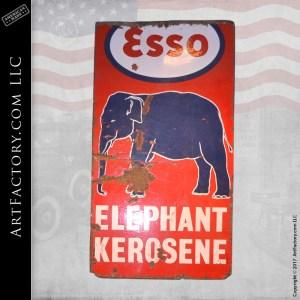 Esso Elephant Kerosene sign