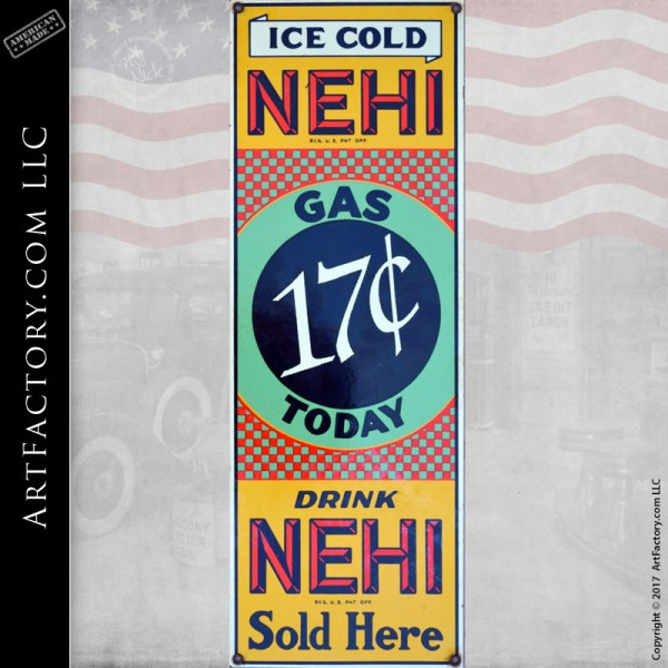 Ice Cold Nehi sign