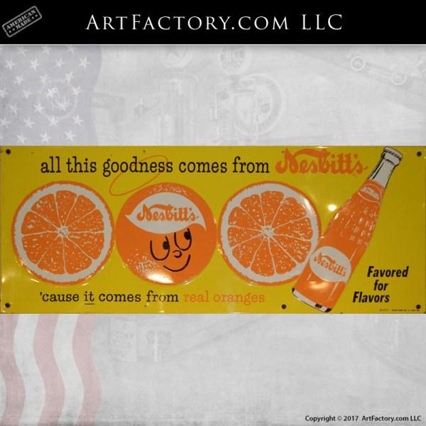 Nesbitts Orange soda sign