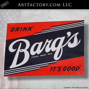 Drink Barq's Root Beer Sign