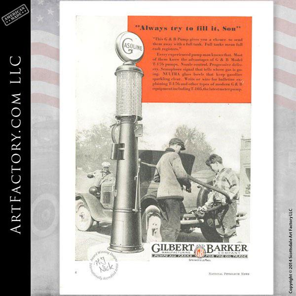Gilbarco Vintage Visible Gas Pump: Fully Restored, Original