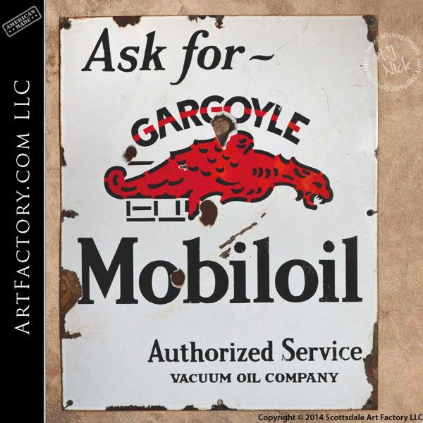 vintage Mobiloil Gargoyle sign