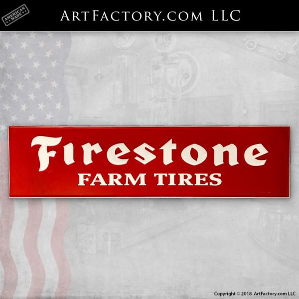 Vintage Firestone Farm Tires Sign