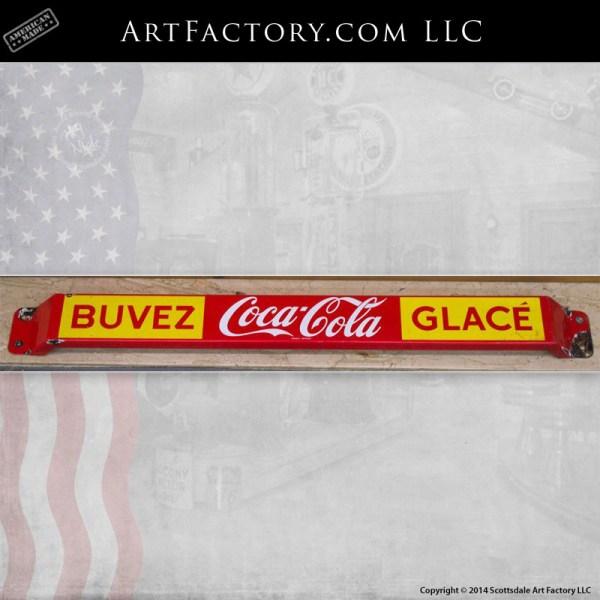 Coca-Cola Buvez Glace door push sign