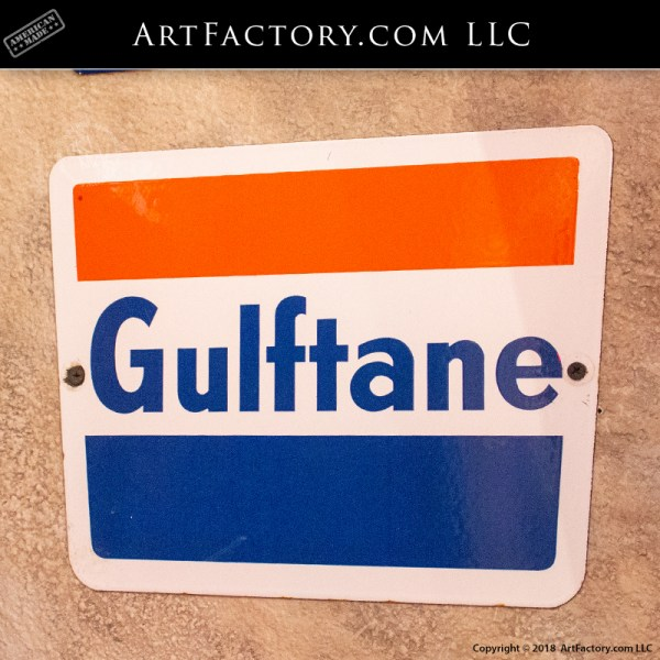 Antique Gulftane Gas Pump Sign
