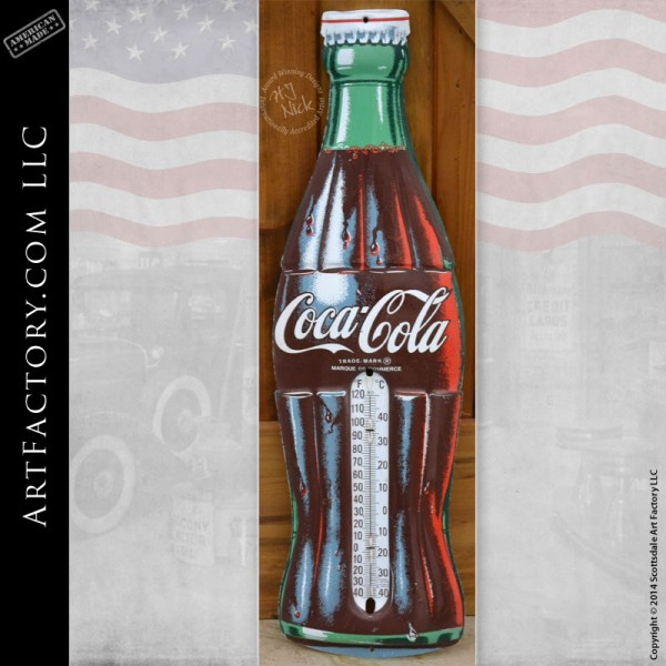 Coca-Cola Bottle Thermometer Sign