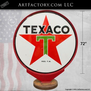 Double Sided Texaco Sign