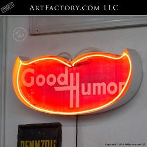 good humor sign neon