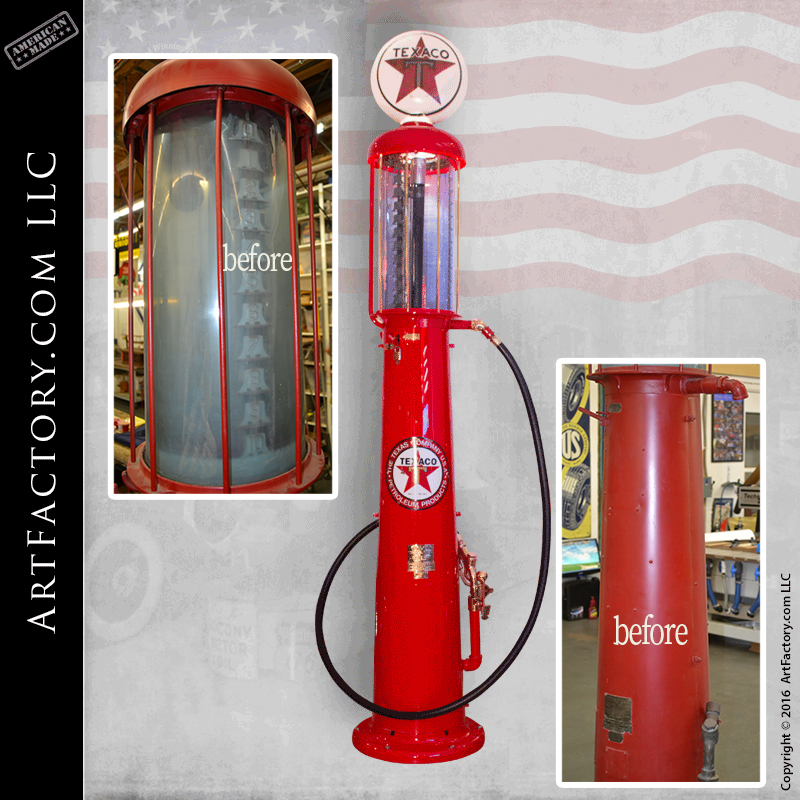 Vintage Visible Gas Pumps: Museum Quality Fully Restored