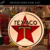 Texaco milk glass gas globe