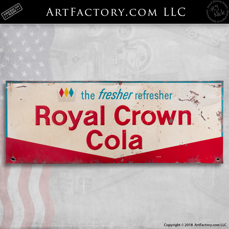 Vintage Royal Crown Cola Sign