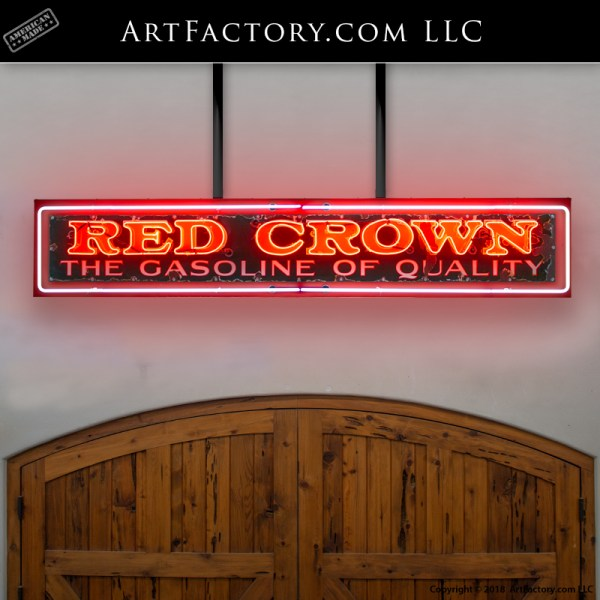 rare Red Crown neon sign