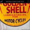 Golden Shell Vintage Motorcycle Lubricating Oil Porcelain Sign