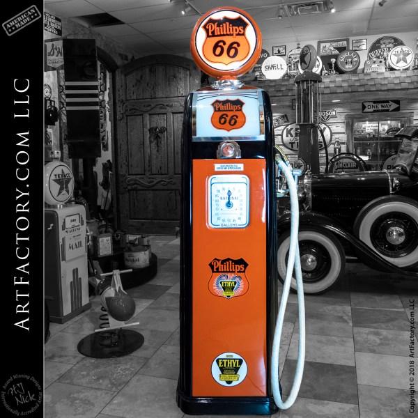 National Model 38-A Gas Pump: Vintage Phillips 66 Restoration