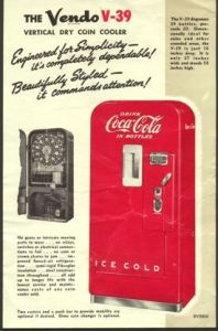 Vendo 39 Coca-Cola machine brochure