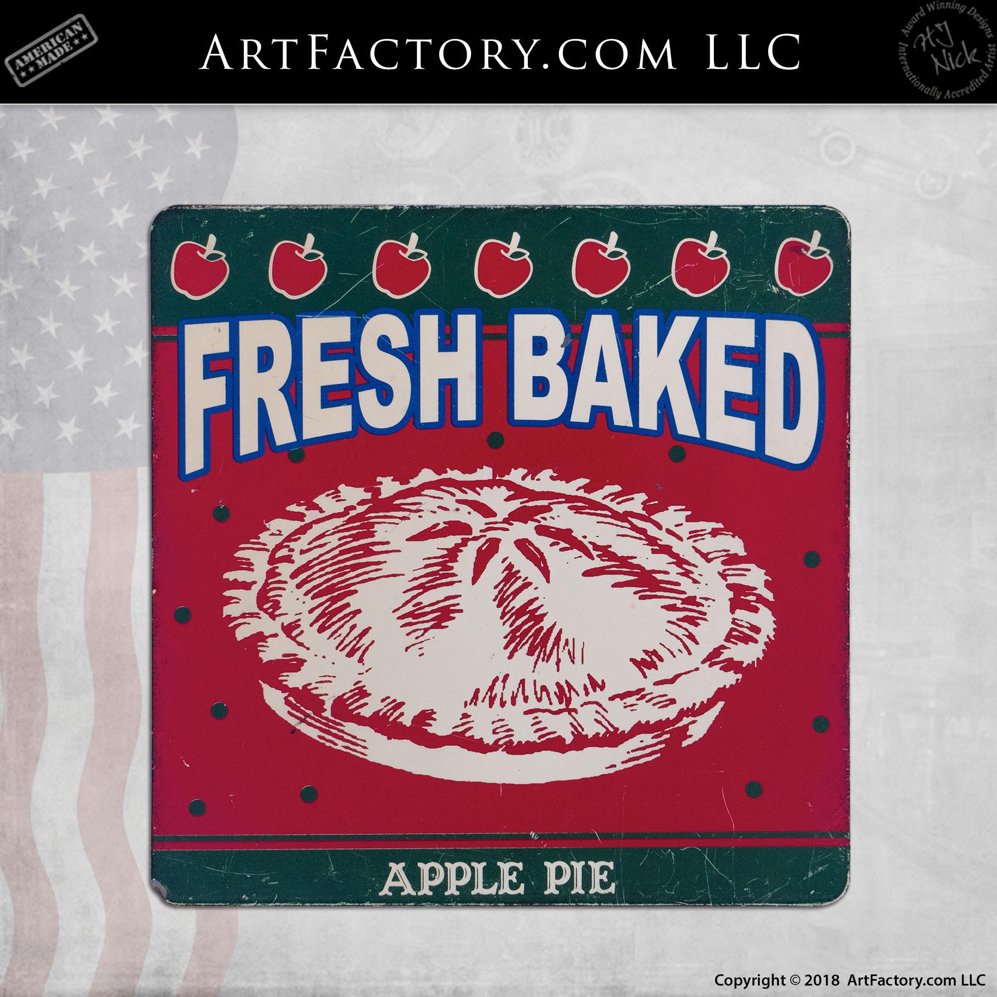 Fresh Baked Apple Pie Porcelain Sign