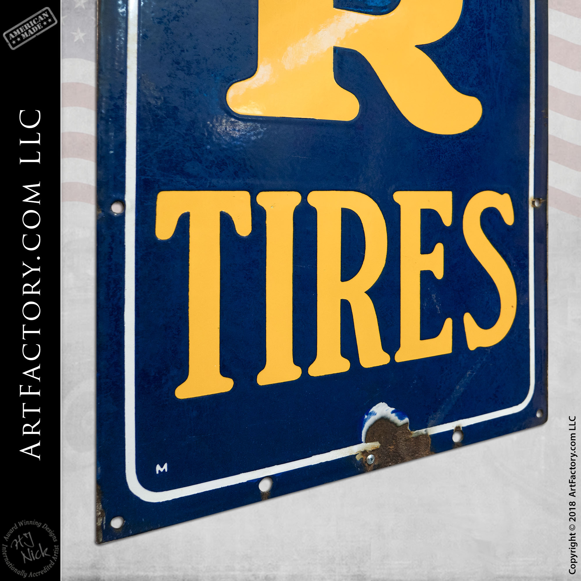 Vintage Good Year Tires Sign