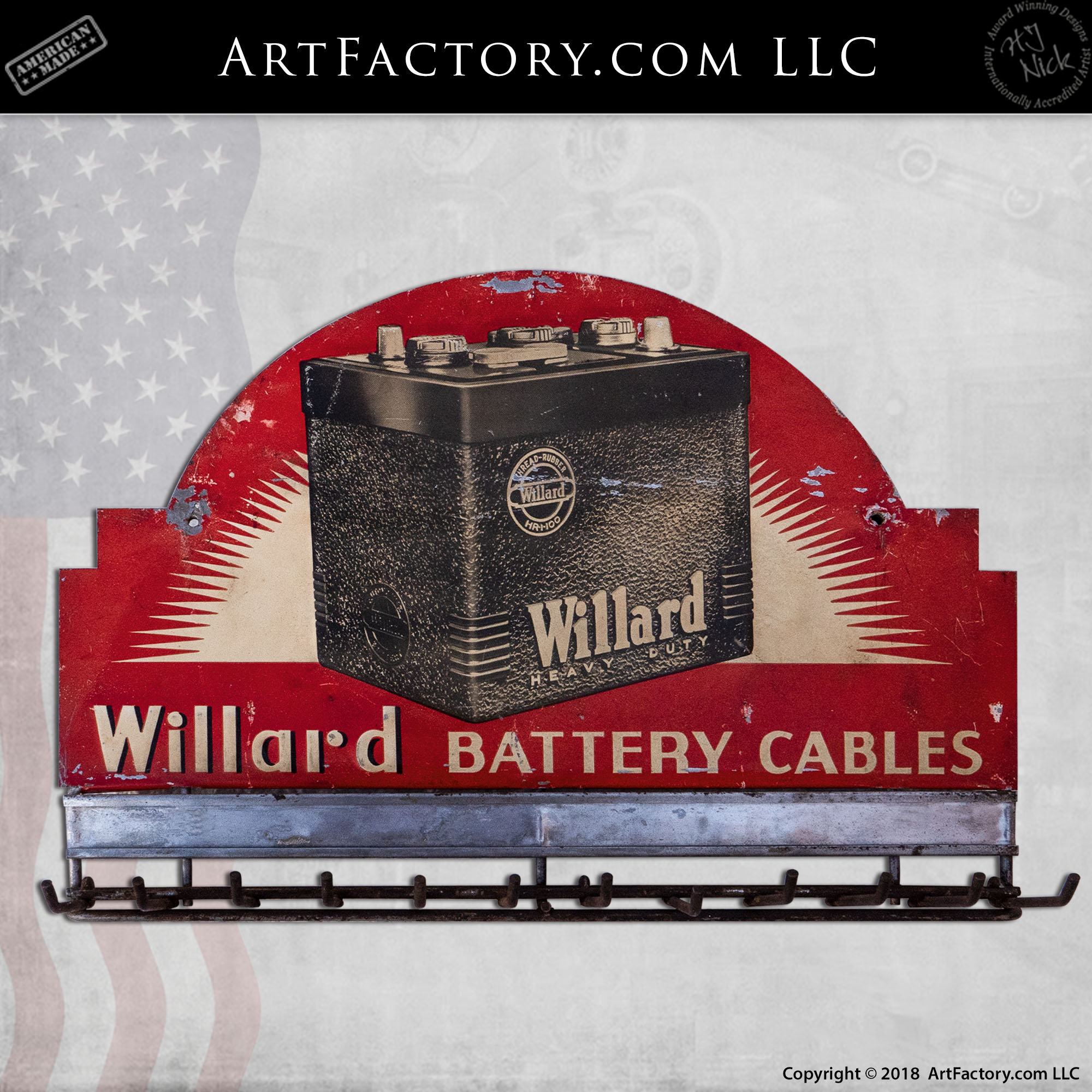 Willard Battery Cables Display Rack