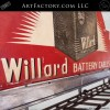 Vintage Willard Car Battery Sign