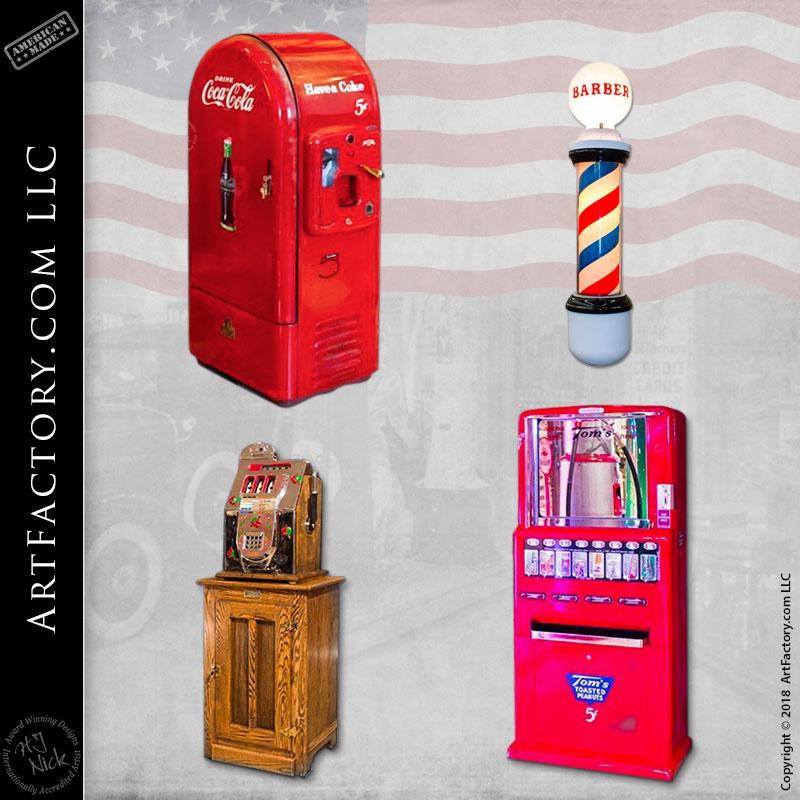 vintage restored vending machines