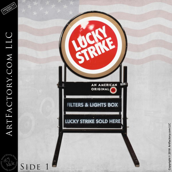 collectible Lucky Strike Sign side 1