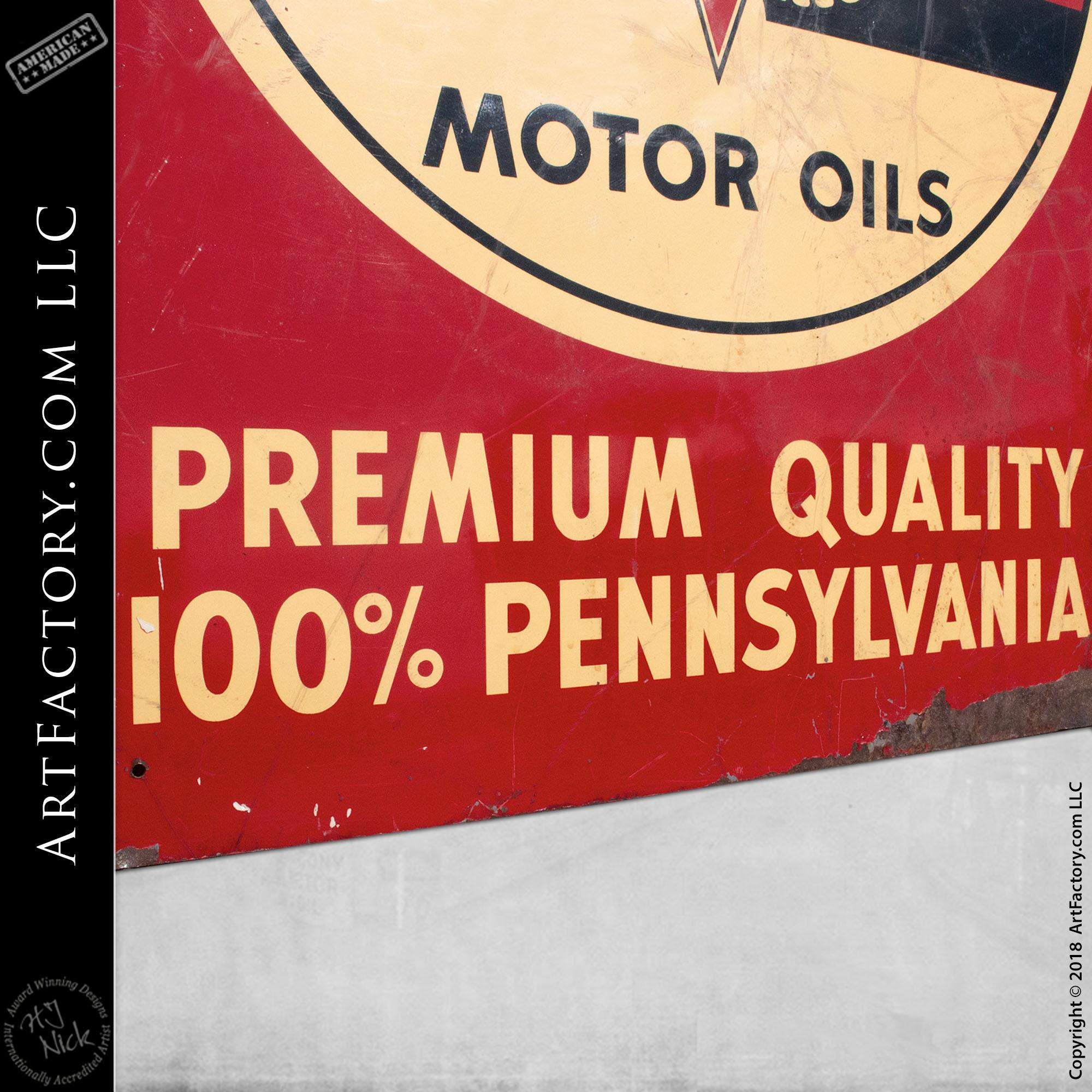 Veedol Motor Oil Vintage Sign