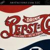 Vintage Pepsi Cola Porcelain Sign