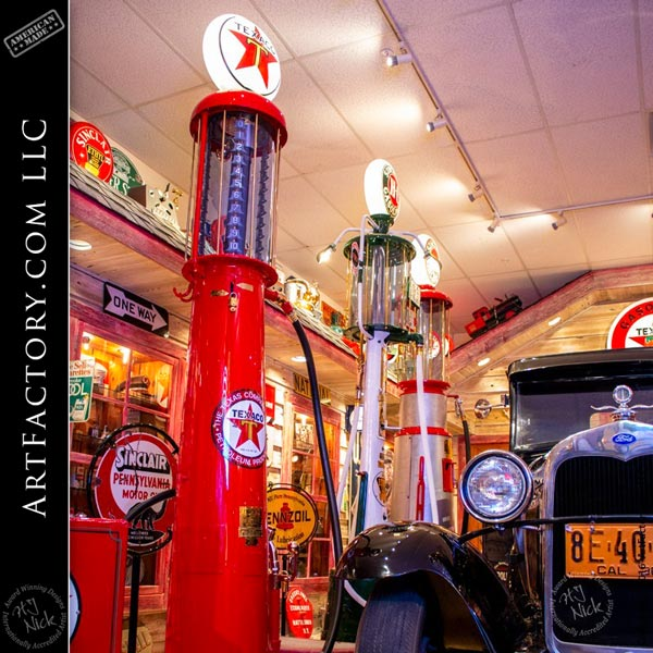 vintage visible gas pumps
