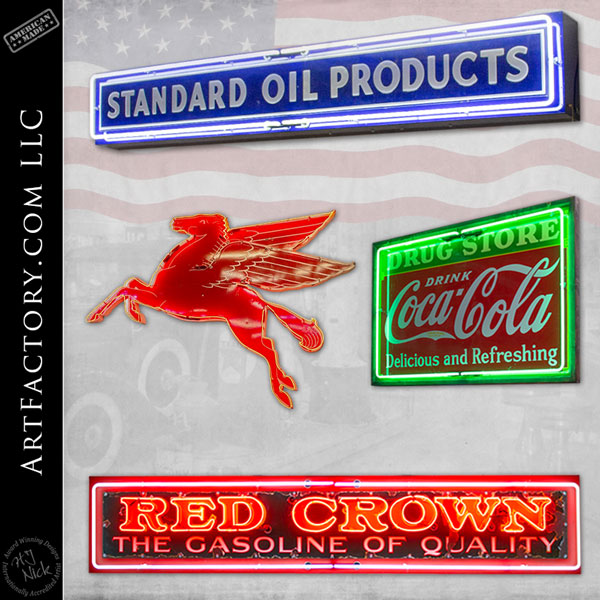 vintage neon and lighted signs