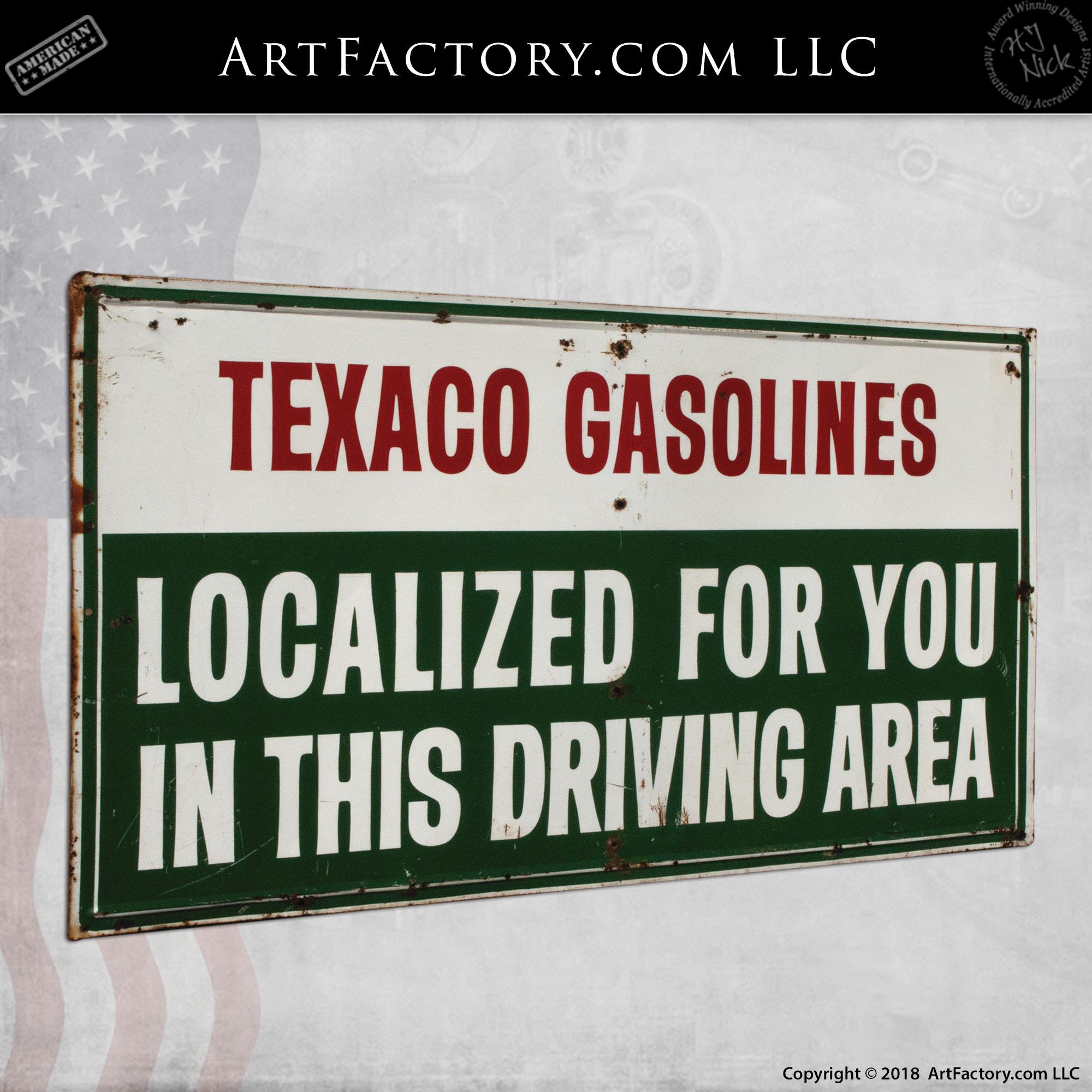 Texaco Localized Gasoline Sign-2
