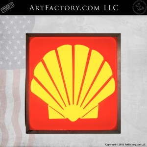 Shell lighted sign
