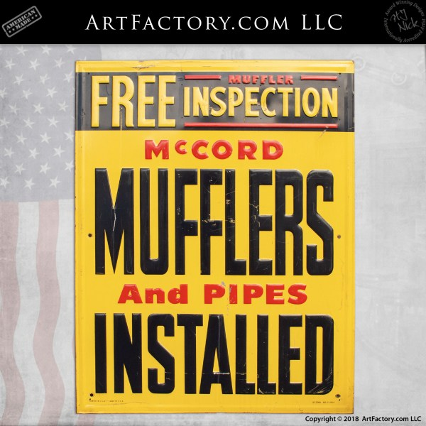 Vintage McCord Sign
