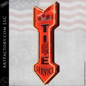 neon National Tire Service sign