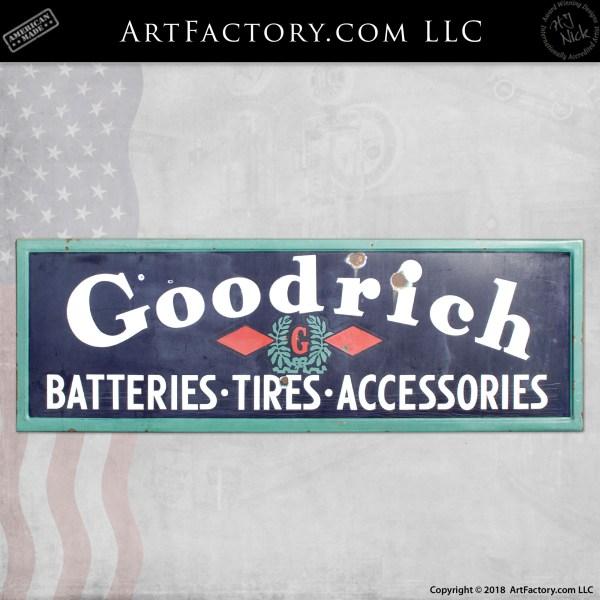 Vintage Large Goodrich Sign