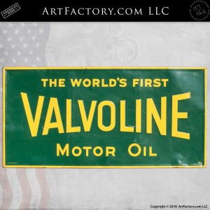 Vintage Green Valvoline Oil Sign