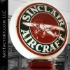 Keesee Vintage Visible Gas Pump: With Sinclair Aircraft Milk Glass Globe