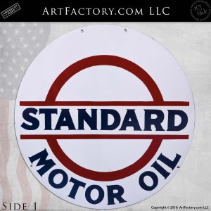 Vintage Standard Motor Oil Double-Sided Sign
