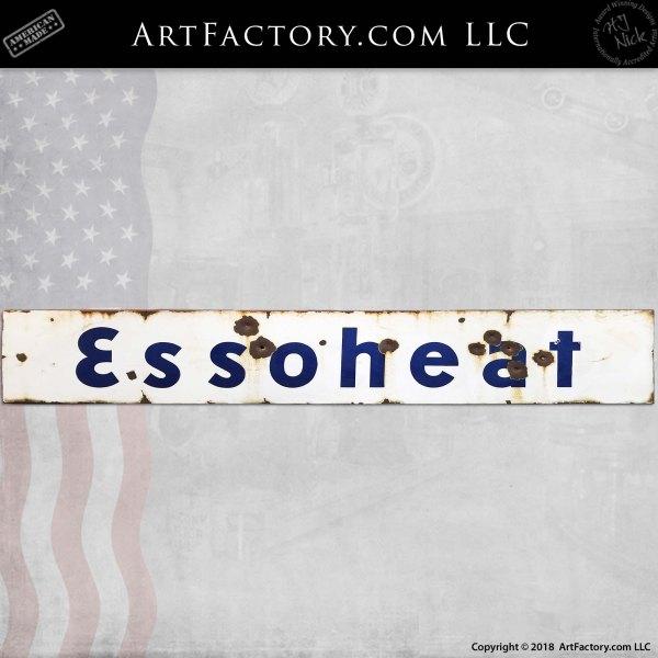 Vintage Essoheat Strip Sign