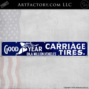 Vintage GoodYear Carriage Tires Sign