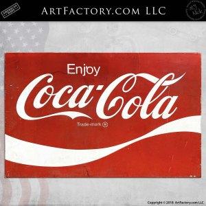 Vintage Coca Cola Porcelain Sign