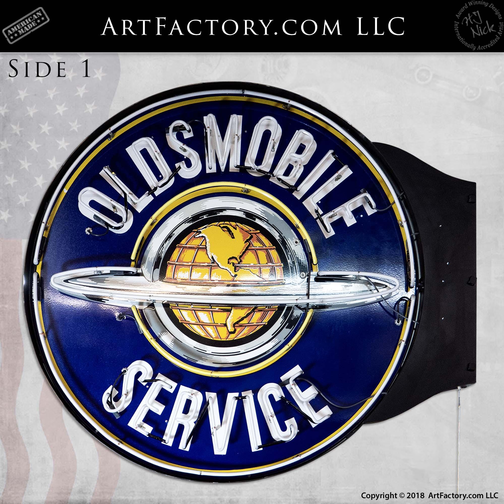 Vintage-Oldsmobile-Service-Neon-Globe-Sign-2