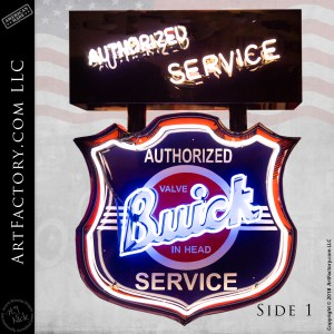 Vintage Buick Authorized Service Sign