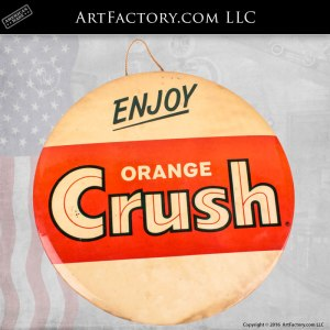 Orange Crush Button Stand Up Sign - OCS200