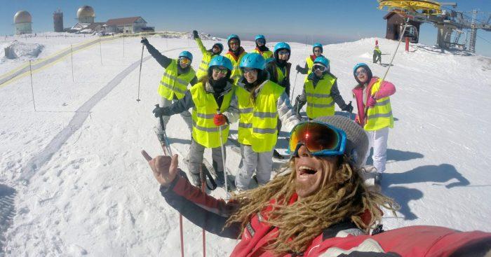 mancha instrutor snowboard ski