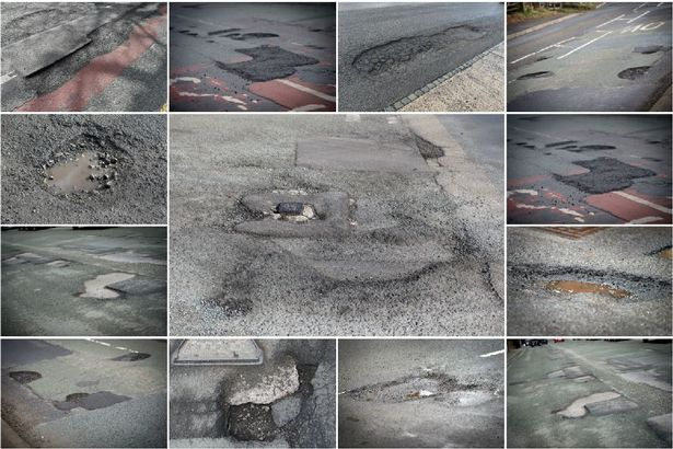 The worst potholes on Greater Manchester's roads