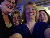 Maxine, Anne, Sue and Nancy at the Kennedy-Clinton Dinner.